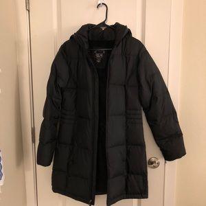 Long black puffer coat